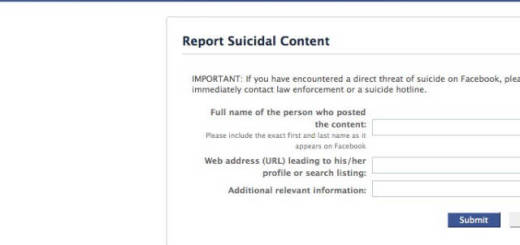 Facebook to Report Suicidal Content