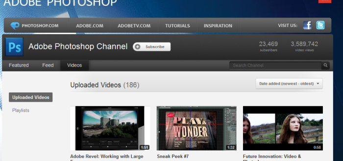 Adobe Photoshop Channel YouTube