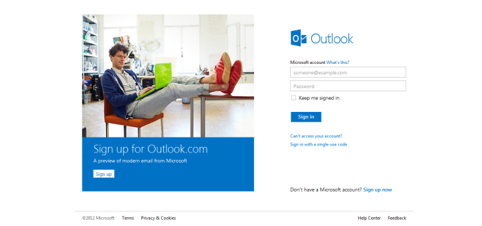 Microsoft New Outlook.Com