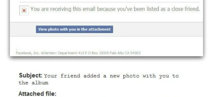 Facebook Photo Notification Scam