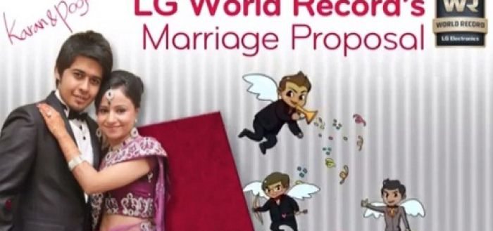 LG World Record Flash Mob Marriage Proposal India Video