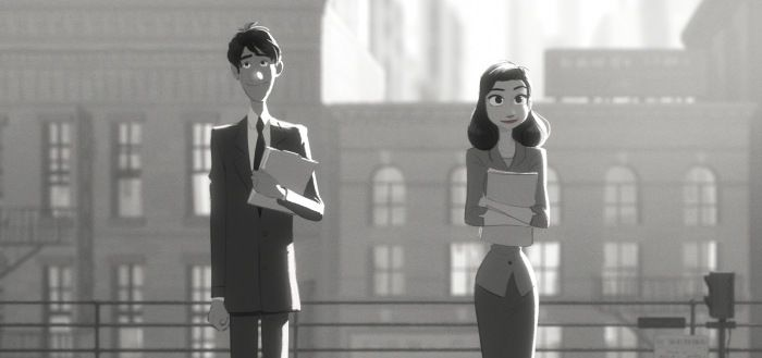 Still From Disney's Paperman Short Film