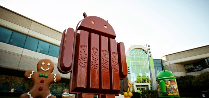 Giant KitKat Statue Outside Google Headquater
