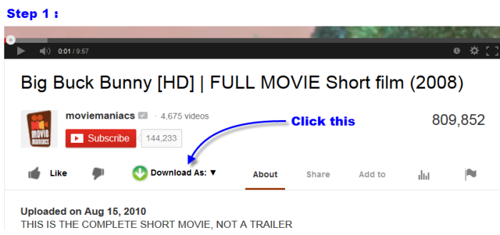 How to download youtube video from Easy YouTube Video Downloader